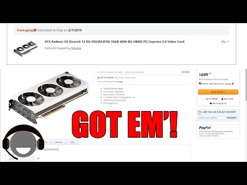 AMD Radeon VII sold TOO SOON?! Purchase option leaked?