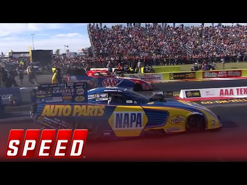 Ron Capps Vs. Robert Hight - Dallas Funny Car Final   2017 NHRA DRAG RACING