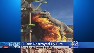 Electrical Fire Makes T-Rex Extinct At Dinosaur Experience