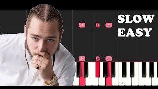 Post Malone ft Nicki Minaj - Ball For Me (SLOW EASY PIANO TUTORIAL)