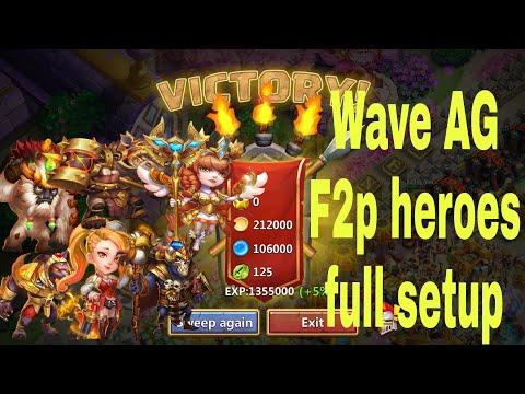 Castle Clash.HBM-AG. F2p Heroes. Full Setup.