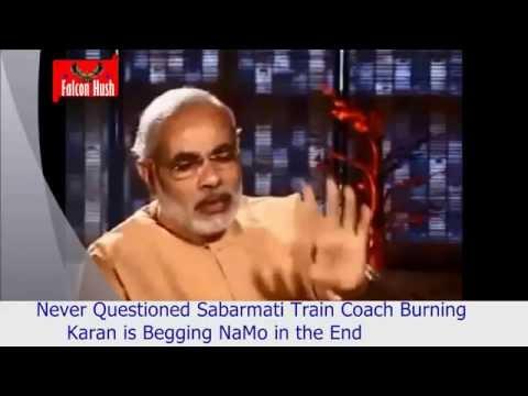 Actual Footage of Karan Thapar Begging Narendra Modi to Give Interview
