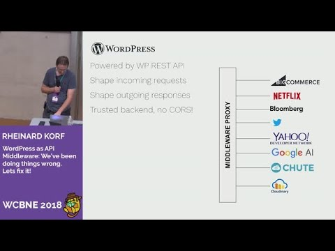 Rheinard Korf: WordPress as API Middleware: We've been doing things wrong   Lets fix it!