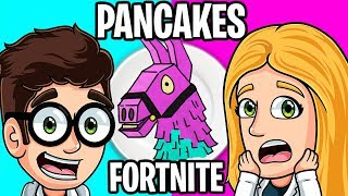 FORTNITE PANCAKE ART CHALLENGE!! 🥞 HOW TO MAKE THE BEAR ROSE AND CALL IT IN REAL LIFE