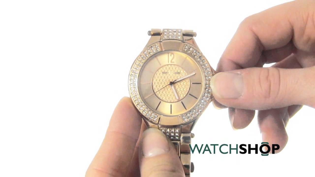 03a081eb83 Mark Maddox Ladies' Pink Gold Watch (MM3008-95) - YouTube