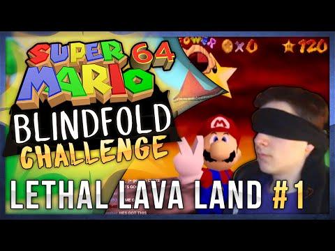 Super Mario 64 Blindfolded Challenge - Boil the Big Bully (Lethal Lava Land)