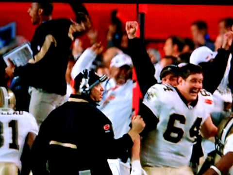 THE INTERCEPTION!!! The NEW ORLEANS SAINTS TRACY PORTER