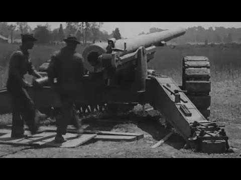 Post WW1 Artillery and Mortar Demonstration ca. 1919 Silent