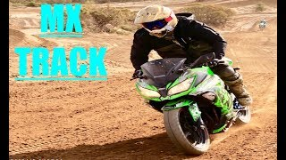 SHREDDING A STREETBIKE ON A MX TRACK!!(Banned for 1 year)