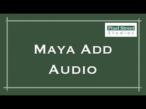 Add Audio to Timeline (Maya 2012)