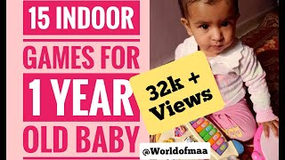 15 Indoor Games\activities For 1 Year Old Baby ||world Of Maa