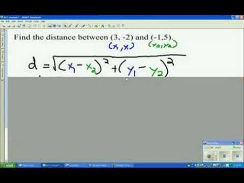 Distance (examples, solutions, worksheets, videos) on