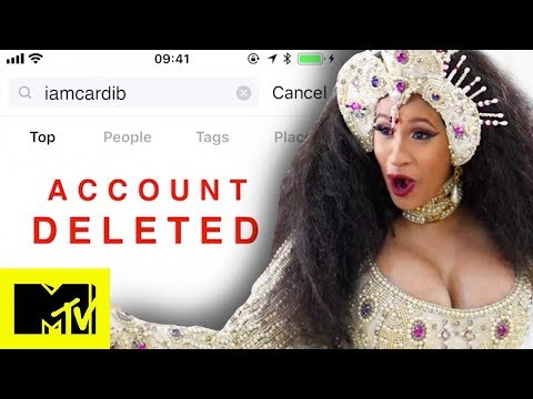 Cardi B Deletes Her Instagram Account | MTV News