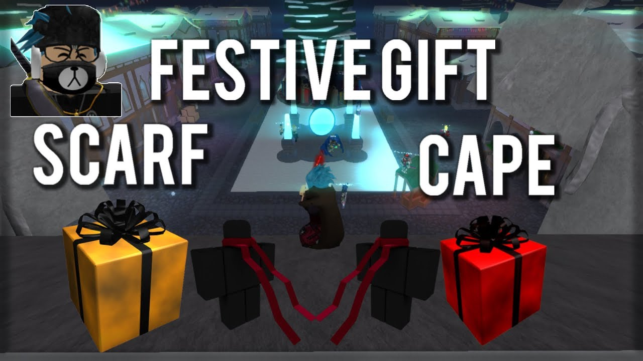 [Limited Item!]❄Swordburst 2❄ Festive Gift Cape and Scarf - Roblox