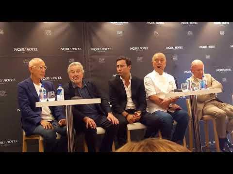 Robert De Niro talking about Nobu Hotel - Press conference at Nobu Hotel Marbella