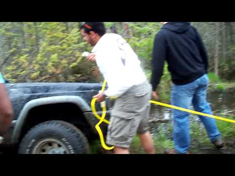 Off Roading The Blue Mountain Ontario Canada---Jeep Troubles lol.