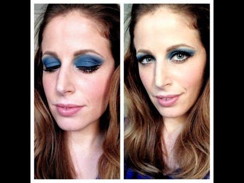 Makeup Tutorial trucco ispirazione 70's blue