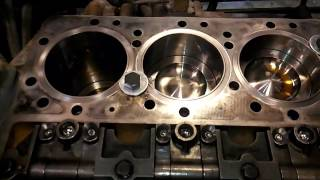 How To Rebuild A Diesel Engine Part 4.  Deck Prep, Piston Packs, And Rod Bearings.  Cat C13.