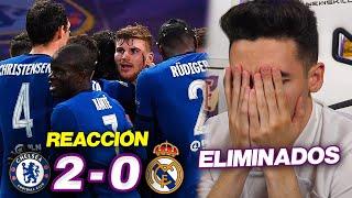 REACCIONES DE UN HINCHA Chelsea vs Real Madrid 2-0 *ELIMINADOS*