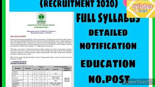 Full new syllabus of vizag steel 2020full notification no.of postand other detailed.