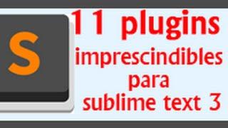 видео Плагины для Sublime Text 3