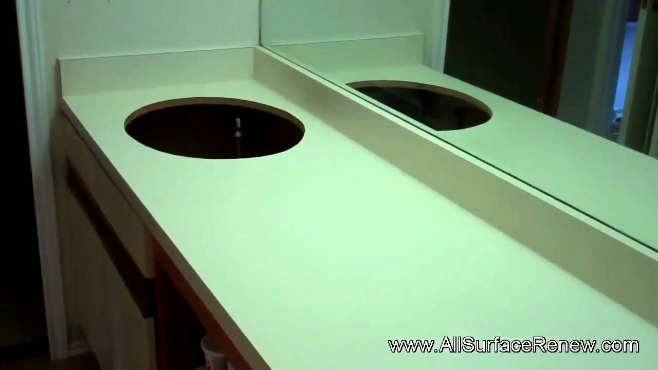 plain laminate bathroom countertops transformed youtube - Laminate Bathroom Countertops