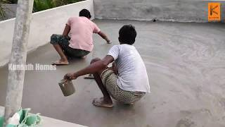 RoofSlab top Plastering for Concrete Protection and Cooling Using Sand and Cement
