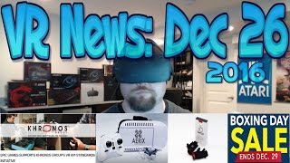 VR News Dec 26 Senso New Haptic Glove With Old Promise Khronos Important Signing More