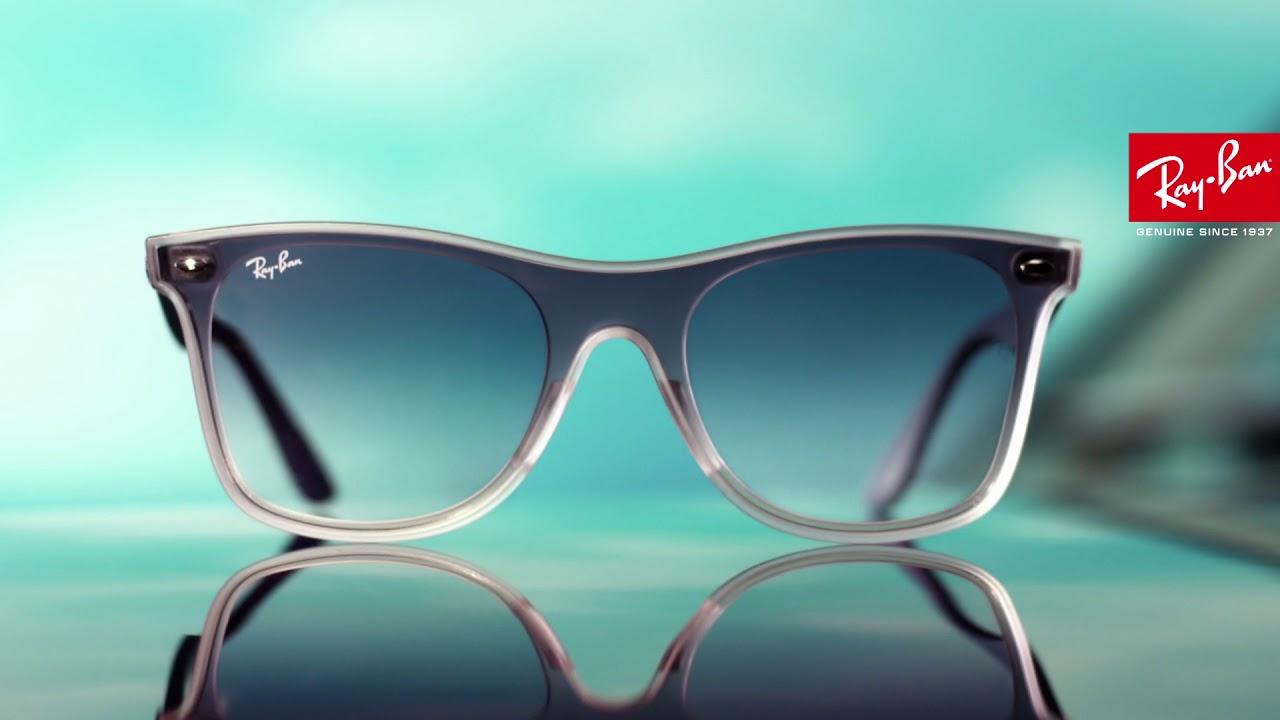 8b41c6d7a1167 Солнцезащитные очки Ray-Ban Blaze Wayfarer (RB 4440N) - YouTube