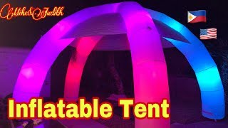 Unboxing & Set up  Incredible Inflatable Lighted  Tent