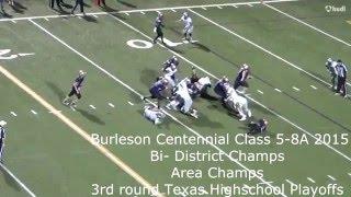 Patch Van Weezel 6' 185 lbs Burleson Centennial High School Linebacker Class of 2016