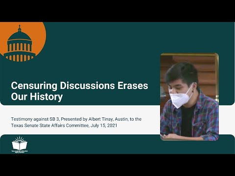 Censuring Discussions Erases Our History – Student Testimony