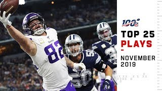 Top 25 Plays from November 2019 | NFL Highlights