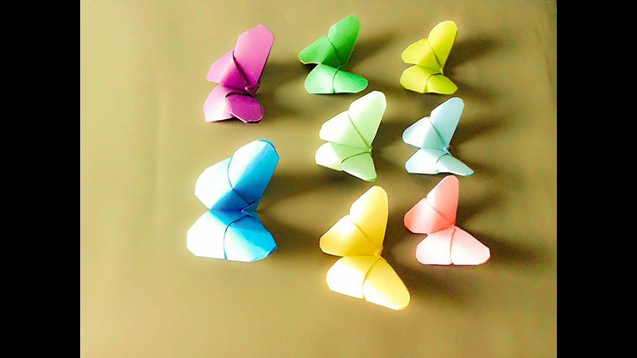 Easy Crafts Paper Butterfly Origami |Easy Butterfly DIY For ...