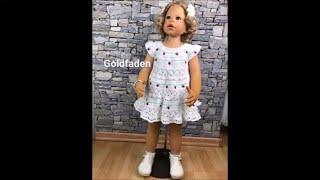 11 Goldfaden Мастер класс Платье для малышки крючком #1 Вязание