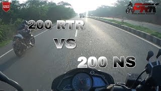 Chase Apache RTR 200 From NS200 Compilation || Sunday ride|| Pro rider kutkut || NS vs 200RtR