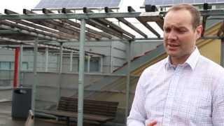 Hafslund og Elvebakken vgs i Oslo samarbeider om solceller på taket