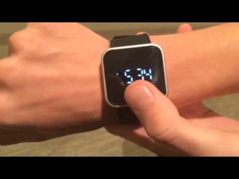 How to change the time on the 1face touchscreen watch tutorial