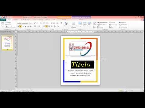Video tutorial sobre como hacer una publicacion rapida desde publisher