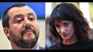 Caso Asia Argento, l'intervento a sorpresa di Matteo Salvini. Le parole del ministro dell'Interno  |
