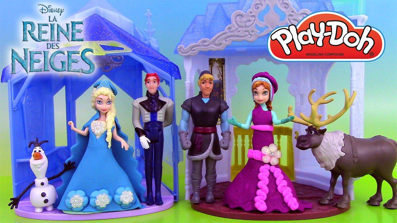 Reine des neiges magiclip p te modeler play doh frozen elsa anna robes de poup es youtube - Robe anna reine des neiges ...