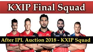 Kings XI Punjab final Squad after IPL 2018 Auction | KXIP team players list 2018 Latest