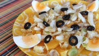 Remojón Granadino (ensalada De Naranja, Cebolleta Y Bacalao) / Orange, Onion And Cod Salad