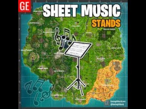 Find The Sheet Music In Pleasant Park (Fortnite Battle Royal Season 6)