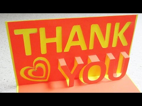 Thank you pop up card - learn how to make a thankyou popup card from template - EzyCraft