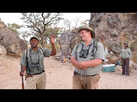 Learning bush craft in Botswana