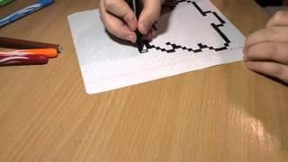 В это видео уроке я покажу вам как нарисовать пиксельную ёлочку )