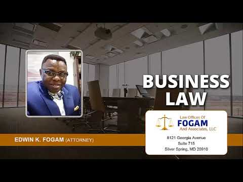 Which Business Law Cases Does The Law Offices Of Fogam and Associates Handle In Maryland?