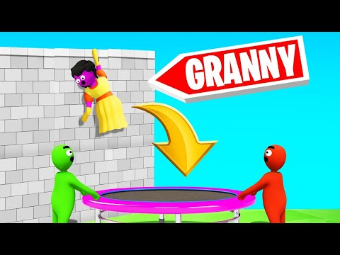 SAVE GRANNY With A TRAMPOLINE! (Gangbeasts)