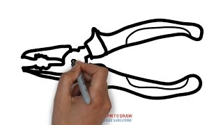 Easy Step For Kids How To Draw a Pliers